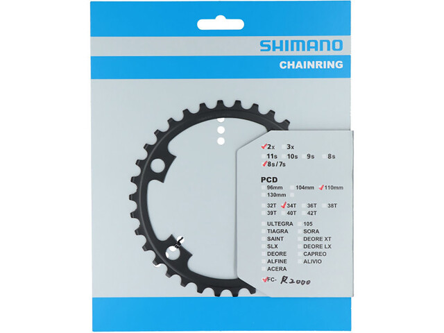 Shimano Claris FC-R2000 Chainring 7/8-speed NB grey